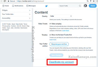 Twitter Account Delete Or Deactivate Kaise Kare in Hindi, Twitter Account Delete Kaise Karte Hai , Twitter Account Delete Kaise Kare , How To Delete Twitter Account in Hindi