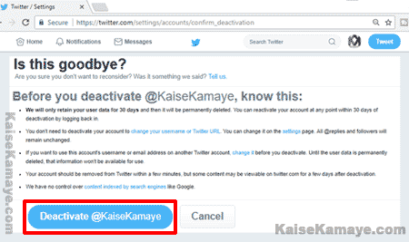 Twitter Account Delete Or Deactivate Kaise Kare in Hindi,Twitter Account Deactivate Kaise Kare , Twitter Account Delete Kaise Karte Hai , How To Delete Twitter Account in Hindi, Twitter Account Deactivate Kaise Kare