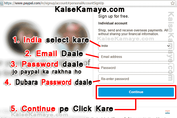 PayPal Account Kaise Banaye Create PayPal Account in Hindi , Create PayPal Account in Hindi , PayPal Account India me Kaise Banaye , PayPal Account in Hindi