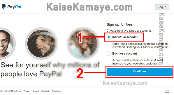 PayPal Account Kaise Banaye Create PayPal Account in Hindi , Create PayPal Account in Hindi , Create Verified PayPal Account in India , PayPal Sign Up