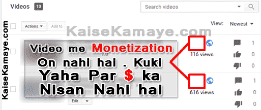 monetization meaning in hindi