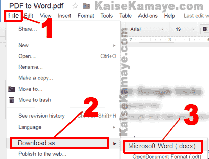 PDF File Ko Word Document Me Kaise Convert Kare PDF to Word