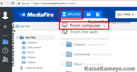 MediaFire Me File Kaise Upload Karte Hai, MediaFire Me File Upload Kaise Kare, How To Upload File On Mediafire in Hindi