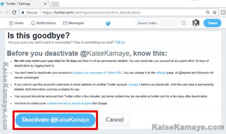 Twitter Account Delete Or Deactivate Kaise Kare in Hindi,Twitter Account Deactivate Kaise Kare , Twitter Account Delete Kaise Karte Hai , How To Delete Twitter Account in Hindi, Twitter Account Deactivate Kaise Kare