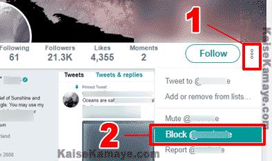 Twitter Me Kisi Ko Block Kaise Kare in Hindi, Twitter Par Kisi Bhi User Ko Kaise Block Kare , How To Block Someone on Twitter in Hindi