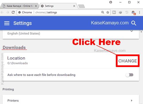 Google Chrome Browser Me Default Download Folder Kaise Change Kare, Google Chrome Me Download Location Kaise Change Kare, How To Change Google Chrome Download Location in Hindi