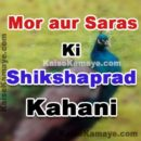 Mor aur Saras Ki Kahani Moral Story in Hindi, Peacock And Crane Moral Story In Hindi, Shikshaprad Kahani Hindi Story