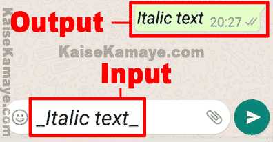 WhatsApp Message Me Bold Italic and Strikethrough Text Kaise Likhe, Whatsapp me Italic Text Kaise Likhe, How to Use Bold, Italic and Strikethrough Text on WhatsApp in Hindi