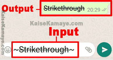 WhatsApp Message Me Bold Italic and Strikethrough Text Kaise Likhe, Whatsapp me Strikethrough Text Kaise Likhe, How to Use Bold, Italic and Strikethrough Text on WhatsApp in Hindi